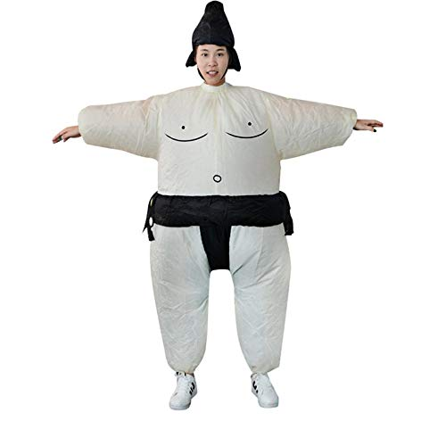 ghfcffdghrdshdfh Inflatable Sumo Dress Fat Man and Woman Suite Fat Masked Suit Blow Up - Blue Blow Up Kostüm