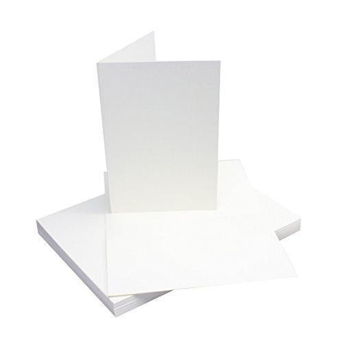 25 Faltkarten B6 - Hochweiß/Kristallweiß - Premium QUALITÄT - 11,5 x 17 cm - sehr formstabil - für Drucker geeignet! - Qualitätsmarke: NEUSER FarbenFroh!