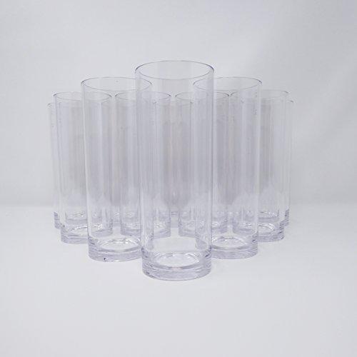 Lot de 12 Kölsch Verre Plastique – 330 ml, 0,3 l & 0,25 l calibré – Incassable – Réutilisable – Hauteur : 15,5 cm | Ø 63 mm