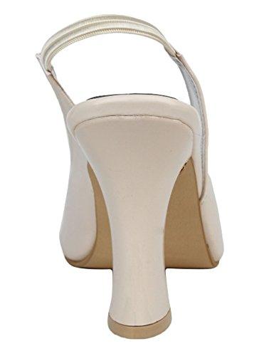 Digni stiletto dames du parti de femmes portent des talons peep toe pompes Beige