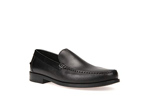 Geox U New Damon a, Mocasines Hombre, Negro BLACKC9999