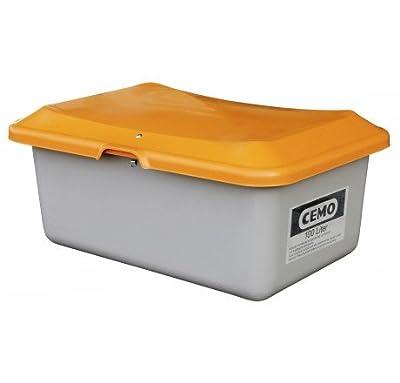 Streugutbehälter Plus3 100 Liter - ohne Entnahme - ohne Staplertaschen - grau/orange