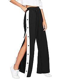 Amazon.es  botones - Pantalones   Mujer  Ropa 6b7cd26a5376