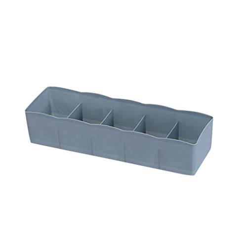 Sock Aufbewahrungsbox Fach 5-fach Aufbewahrungsbox/Schrank Unterwäsche Organizer Drawer Divider/Schrank Kommode Drawer Divider Organizer Basket Bins für Unterwäsche-BHs-26x8x5CM-Blau - Kleine Mädchen Tee-set Schrank