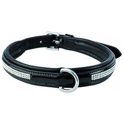 WALDHAUSEN Hundehalsband Granada, Leder, schwarz, S (29-36cm), schwarz, S (29-36cm)
