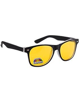 4sold antideslumbrante gafas gafas de conducción nocturna amarillo lente, de caparazón de tortuga marco marrón...