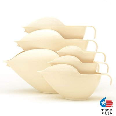 Ciotole POURfect 1015 Coppa Bowl Set, Almond Cream, 1-2-4-6-8-12 Cup