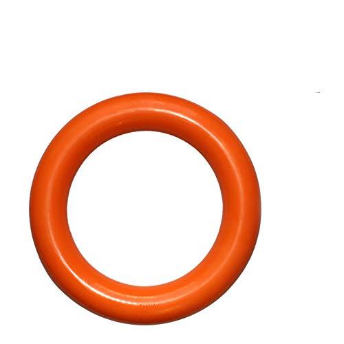 NaiCasy Hundespielzeug Molar Bites-Ton-Spielzeug Pet Chew Toy Naturkautschuk Ring Sting sicheres Spielzeug für Hunde Aller Lieferungen orange Hund, (Alle Orange Kostüm)
