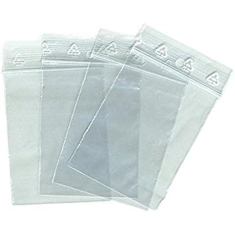 Cartón de 1000polybags, bolsita plástico transparente 40x 60mm
