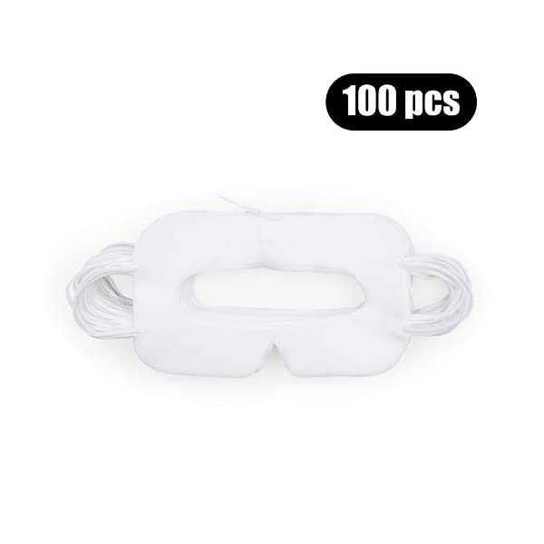 AMVR 100 pcs Disposable VR Face Mask Hygienic Breathable Nonwoven Cover Pad for HTC Vive or Pro/PS VR/Gear VR/Oculus Rift/Oculus Go,and other VR Headsets 31vLs99kIxL