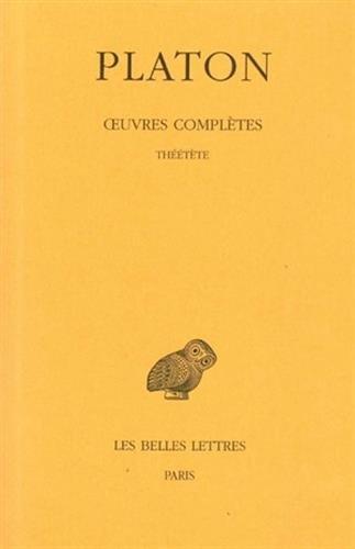Oeuvres, tome 8, 2e partie : Théétète