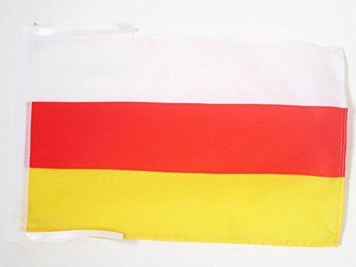 FLAGGE SÜDOSSETIEN 45x30cm mit kordel - OSSETIEN FAHNE 30 x 45 cm - flaggen AZ FLAG Top Qualität