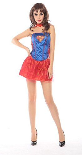 Hot Sexy Halloween Super-Girl Kostüm für (Girl Super Sexy Kostüme)