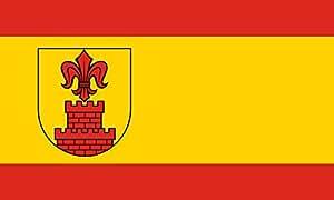 magFlags Flagge: Large Beschreibung der Flagge Rot-Gold-Rot im Verhältnis 1 3,5 1 längsgestreift d   Querformat Fahne   1.35m²   90x150cm » Fahne 100% Made in Germany
