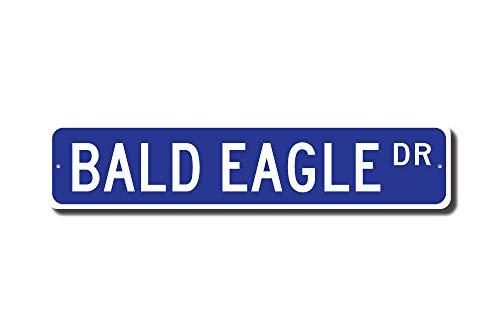 qidushop Bald Eagle Gift Bald Eagle Schild Bald Eagle Decor Bald Eagle Lover Usa Emblem Street Sign Funny Words Tin Sign Gift -