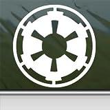 Star Wars Sticker Blanc Empire galactique Blanc fenêtre mur voiture Sticker MacBook...