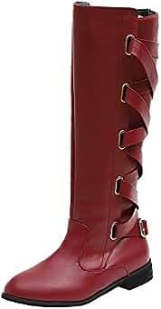 Ansenesna Hohe Stiefel Damen Schwarz Braun Overknee Mit Absatz Schuhe Leder  Elegant Vintage Boots Für Frauen 549d0fb3aa