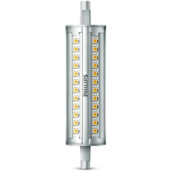 Philips Bombilla Tubo R7S 929001243701 - Tubo Lineal LED, Casquillo, Consume Equivalente, Regulable, Luz Fría 4 Pin, 14 W, Blanco