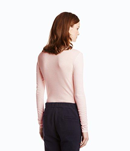 Petit Bateau Damen Langarmshirt T-Shirt ml Col Rond Rosa (FLEUR 22)