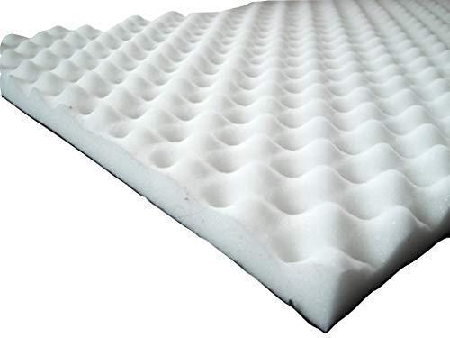 lulushop Noppenschaumstoff Zuschnitt (ca.50 x 50) Akustik Schaumstoff Akustikschaumstoff Dämmung Platten (ca. 50x50x 3 cm, (weiß)