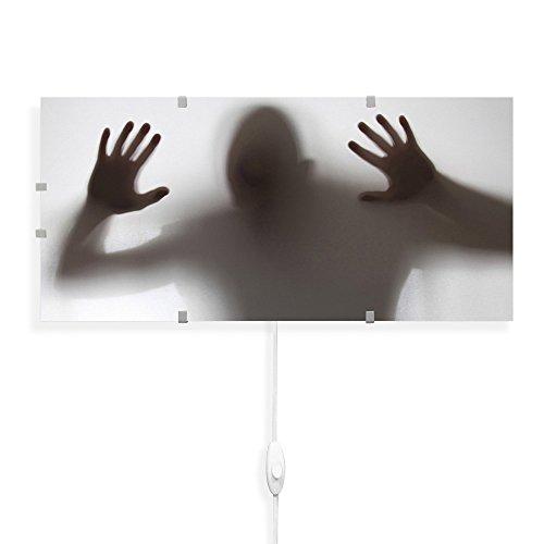 banjado - Wandleuchte 56cmx26cm Wandlampe Design Lampe LED Leuchte mit Schalter und Motiv Schattenspiel, Wandlampe mit 2x 6W LED Leuchtmittel