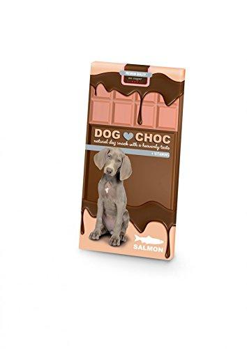 Cioccolato DogChoc - Cioccolato per cani disponibile in cinque gusti (Rosa - gusto SALMONE)
