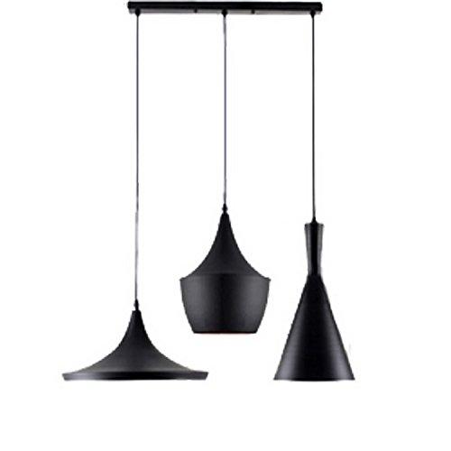 Lightinthebox Retro Suspension Luminaire Industrielle Plafonnier Lustre en Aluminium Lampe Salle à manger et chambre à coucher Noir