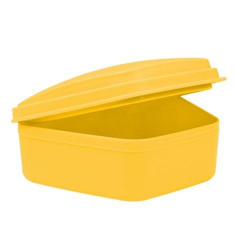 wellsamed Zahnspangendose Spangendose Prothesendose gelb, flache Dose (auch für Aufbissschiene, Knirscherschiene) 1 Stück
