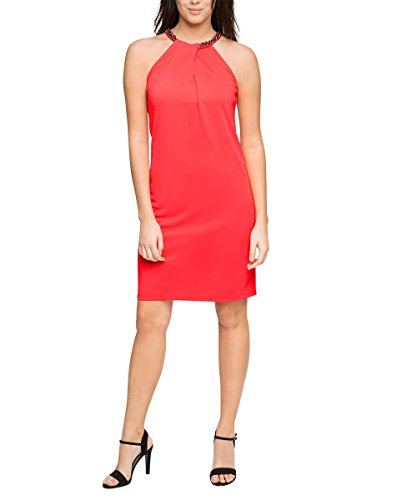 ESPRIT Collection Damen Kleid 026eo1e021-mit Stretch Rot (CORAL 645)