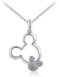 Odster - Collar con Colgante de Cristal para Mujer, diseño de Mickey, ...