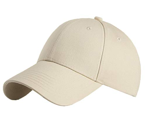 Baumwolle Baseball Cap, Basecap - KeepSa Unisex Baseball Kappen, Baseball Mützen für Draussen, Sport oder auf Reisen - Reine Farbe Baseboard Baseballkappe Kappe, Mütze (Eine Größe einstellbar, Khaki)