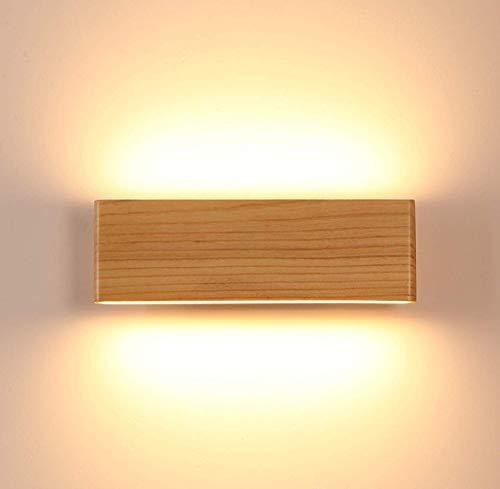 Lampade da parete,moderno up down applique da parete,lampada da parete led legno per corridoio/bagno/scala/camera da letto (22cm)