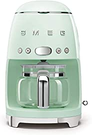 Smeg DCF02PGUK Drip Coffee Machine, 10 Cup Capacity, Auto-Start Mode, Reuseable Filter, Digital Display, Anti-