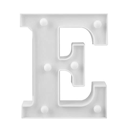 Leucht Buchstaben, Alphabet LED Dekorative Lichter, Hillsong 3D LED Brief Nachtlicht Wandbehang Festzelt Zeichen Alphabet Dekor Lampe (E) (3d Alphabet Buchstaben)