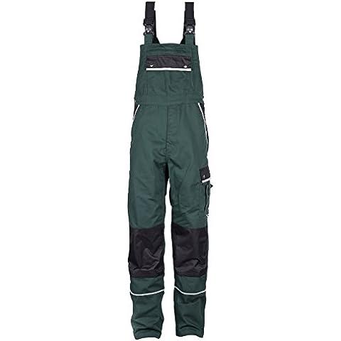 TMG® - Mono de trabajo para jardinero - Resistente con pechera y rodilleras - Verde