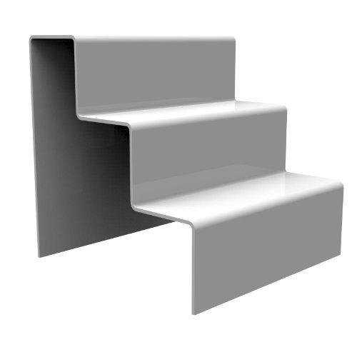 Displaypro–Marcos Blanco 3paso elevador de acrílico decoración de escaparates zócalo para venta de joyas–Entrega gratuita.
