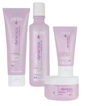 Jafra Hydration Dynamics Set Feuchtigkeitsspendende Reinigungscreme, Feuchtigkeitsspendendes Gesichtswasser, Feuchtigkeitsaufbauende Tagescreme und Nachtcreme