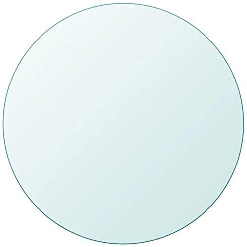 Fesjoy Tablero Mesa Cristal Templado Redondo 900 mm