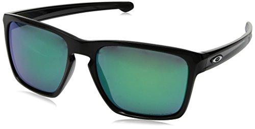Oakley Herren Sliver Xl 934119 Sonnenbrille, Braun (Polished Black), 56