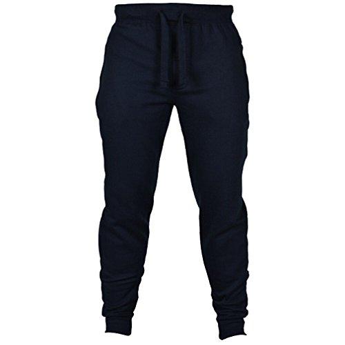 WTUS Uomo Jogging pantaloni pantaloni della tuta uomini | per Sport Fitness Gym Training & tempo libero Blu