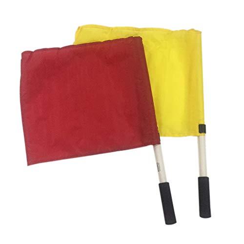 Kosma 2er Set Training Linesman Flag |Farbe- Rot/Gelb | Schiedsrichter-Flag gesetzt -