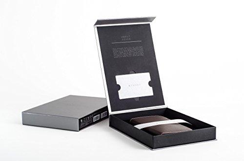 ZENDO iPhone 8/7 Plus Custodia Portafoglio in Pelle (Vera Pelle Europea) con scomparti di carte, chiusura magnetica, kickstand   Kaiga Leather Case [iPhone 8/7 Plus   Nero] Mocca