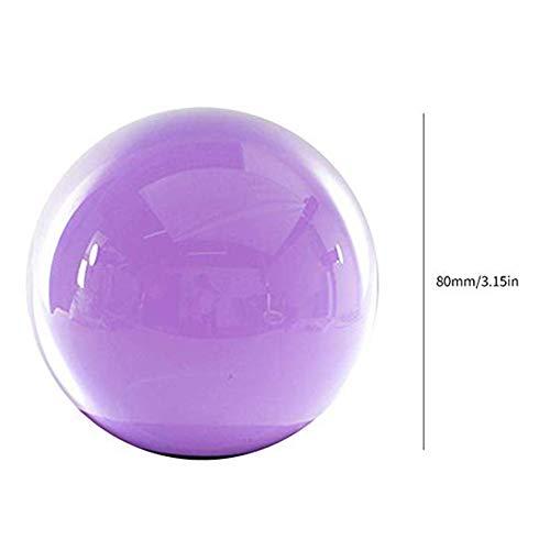 Flyes Amethyst Crystal Sphere Rare Purple Power Stone Ball Meditation Mineral Balance Stones