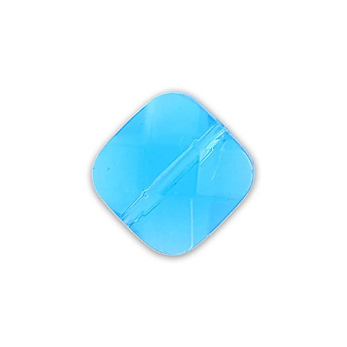 Quadrato sfaccettato mm.10 Dark Aquamarine x1