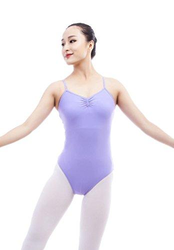 Badeanzug Bademode Schwimmanzug Tanz Yoga Crisscross Back Tank Leotard Violett M (Günstige Ballett Tanz Kostüme)