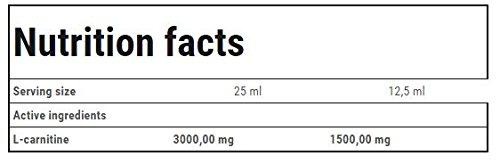 Trec Nutrition L-CARNITINE 3000, Karnitin – Geschmack: Aprikose, 1er Pack (1 x 500 g)