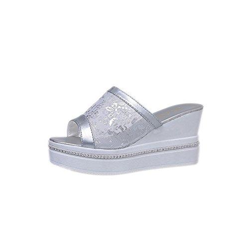 longra-donne-net-voile-zeppe-pantofole-eu-size35-argento