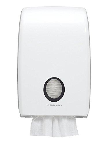 Aquarius 7171 - Dispensador de toallas secamanos interplegadas, color blanco