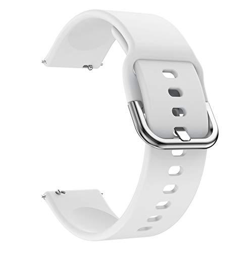 für Xiaomi Huami Amazfit Bip Youth Uhr Intelligent Uhr Smart Watch Mode Ersatz Sport Silikon Handschlaufe Uhrenarmband Armband (Weiß) - Weiß Uhrenarmbänder