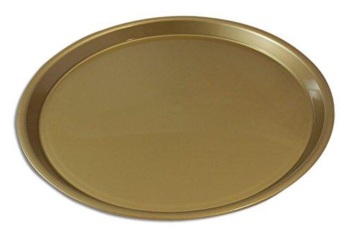 Serviertablett Durchmesser 370 mm rund rutschfest (Gold) Gold-tablett